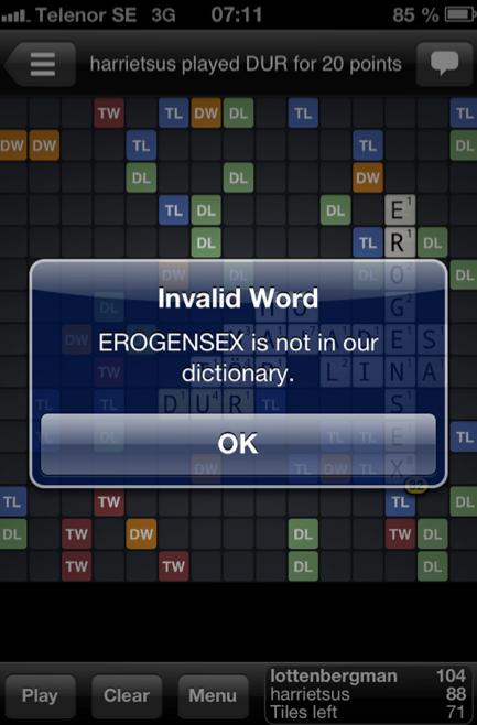 Fast alla ord godkänns inte, hur logiska de än är.