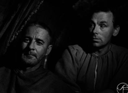 Och samme Björnstand som ovan (vars memoarer tyvärr var aptrista) poserar här med Poppe när de båda två var med i Ingmar Bergmans Sjunde inseglet.