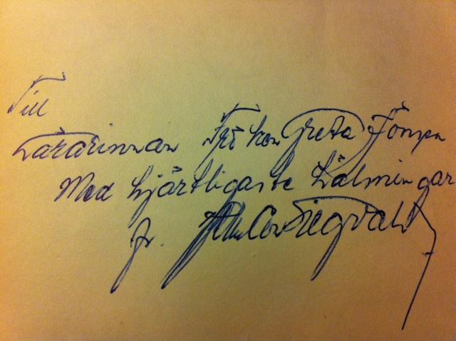 Bokens redaktör (och medförfattare) heter Herman Siegvald …