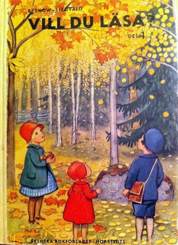 Tänk att vi ska läsa här ute i skogen.