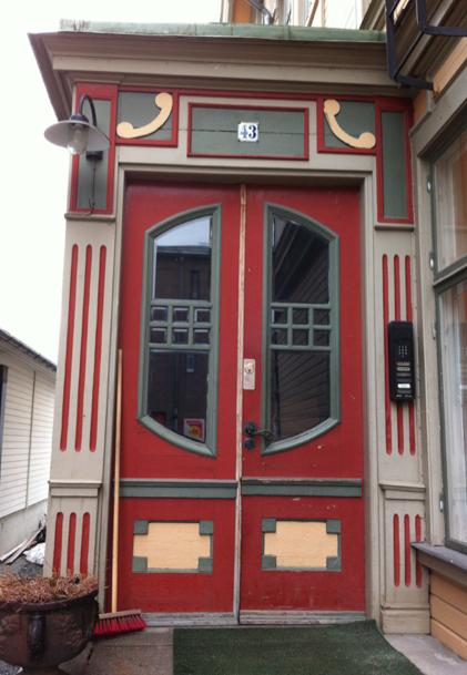 Och nu vet jag hur jag ska måla min ytterdörr. Så vackert!