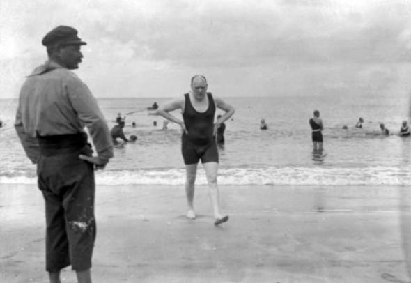Winston Churchill utan cigarr!