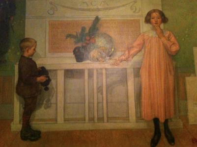 I ateljén hänger denna tavla, som även målades i ateljén.