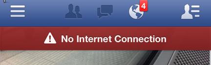 Men nej. Inget internet över huvud taget.