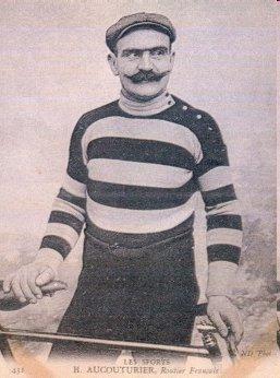 Hippolyte Aucouturier, den kedjerökande sotaren som misslyckades i Tour de France 1903 för att en av de andra tävlande hade hällt gift i hans vattenflaska.