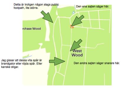 Koordinaterna är 50.957440, -0.086323 och på den här kartan kan ni se vart ni ska.