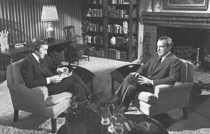 David Frost och Richard Nixon 1977 – en händelse som sedan blev film.