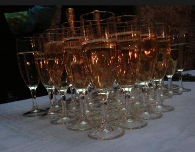 Den obilgatoriska champagnebilden.