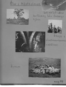 Bilder ur min farbror Sten Stensons fotoalbum från Hästholmen 1944 – när lumpen ju var på allvar.