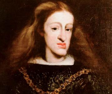 Karl II av Spanien. (Hakan är inte stor, den är felkonstruerad.)