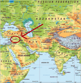 Syrien är ett gammalt, gammalt land och ligger här.
