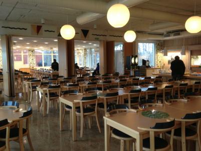 Matsalen på folkhögskolan.
