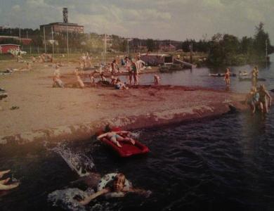 Sjön som heter Luossajärvi såg ut så här i början av 1970-talet.