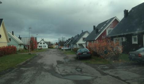 – Precis sådär såg det ut på nya Björkskatan i Luleå runt 1980!