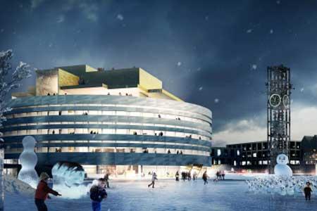 """Det nya stadshuset kommer att se ut så här och heta """"Kristallen"""". Jahaja."""