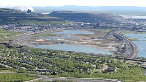 Nu (ur inte alls samma vinkel) ser den ut så här eftersom LKAB tömmer den allteftersom gruvan utbreder sig under marken.