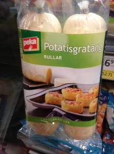 På affärn har de potatisgratängsrullar som man ska steka i skivor!v