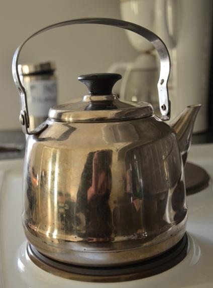 Nu ska jag koka tevatten i vattenkokaren på bilden …