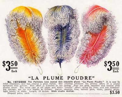 1914 års färgglada fjädrar.
