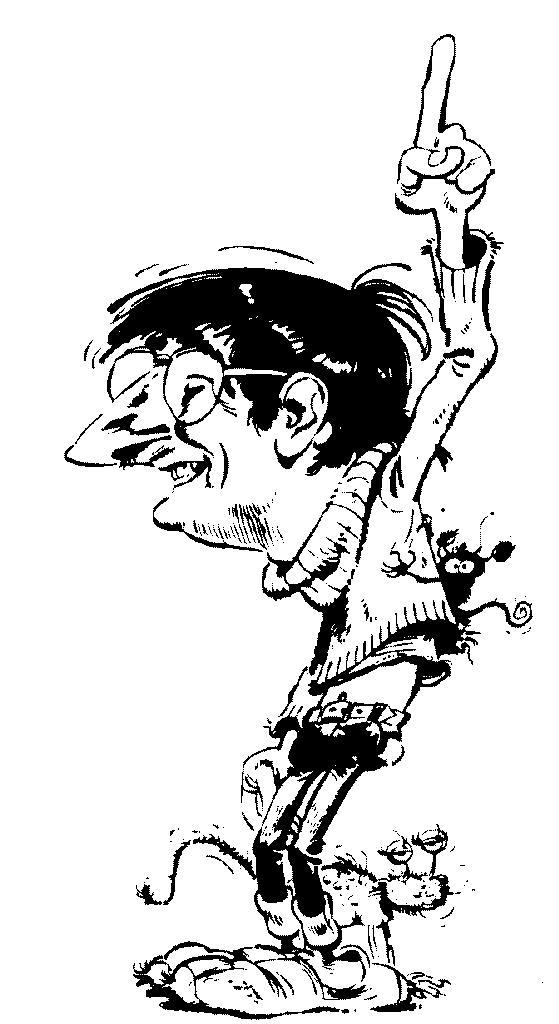 Franquins självporträtt.
