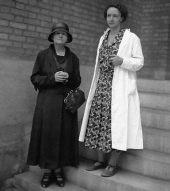 Mor och dotter – Marie och Irène.