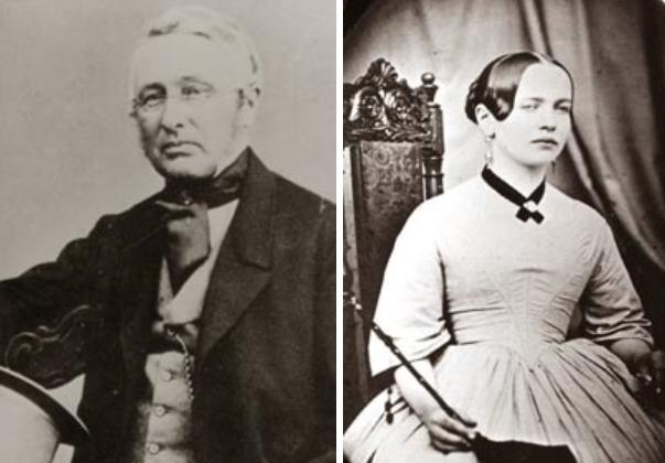Pappa Carl Oscar och mamma Ulrica Eleonora (som dog i tuberkulos 1862).