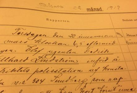 Boven Lindström ställde till det för sig i mars 1917.