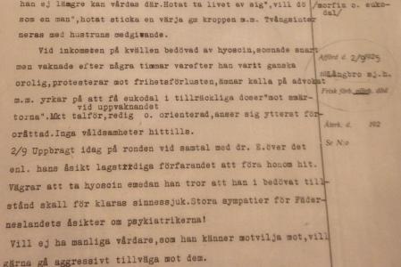 Jahaja. Hermann Göring har stora sympatier för Fäderneslandets åsikter om psykiatrikerna!
