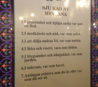 Jag föreslog att jag skulle redigera svenskan åt dervischerna, men möttes av huvudskakningar.