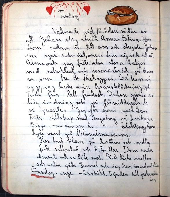 Och denna Maja skrev på fettisdagen (som var en lovdag) 1915 detta i sin dagbok.